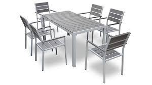 Table et 6 chaises Giany en aluminium pour jardin - Mobilier Moss