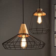 metallic pendant lighting design discoveries. Industrial Loft Black Metal Cage Single Light Wood Art Pendant - Lights Ceiling Metallic Lighting Design Discoveries E