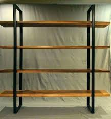 fascinating wood and metal shelves wood and metal bookcase wood and metal shelves metal and wood