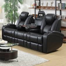 reclining sofa chair. Delange Motion Collection Power Reclining Sofa With Drop Down Cup Holders,  Reading Lights, Receptacles Reclining Sofa Chair