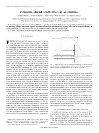 pdf permanent magnet length effects in ac machines