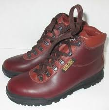 new vintage vasque boots skywalk gore tex brown hiking mountaineering womens 8 n