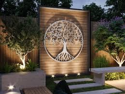 tree of life outdoor metal wall art