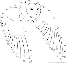 Fair Owl Connect The Dots Printable For Snazzy Owl Connect The ...