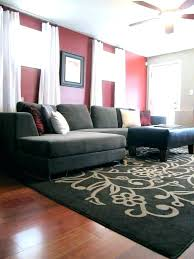 gray and cream living room red brown rug