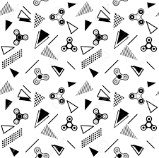 Fidget Spinner Pattern Classy Fidget Spinner Seamless Memphis Pattern Or Background With Black