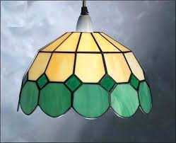 stained glass ceiling light shades retro shade lampshade fitting pendant lamp antique hanging s
