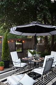 black and white patio furniture for stylish household decor outdoor in 11
