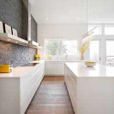 modern white kitchen. Modern Kitchen Designs - Inspiration For A Modern Remodel In  Portland With Flat-panel White S