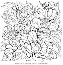 Free Coloring Pages Flowers And Butterflies Onefranklintowercom