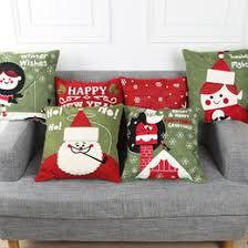 christmas pillows on sale.  Pillows Christmas New Year Design Pure Cotton Cushion Covers Fashion Throw Pillow  Case Decorative Inside Pillows On Sale L