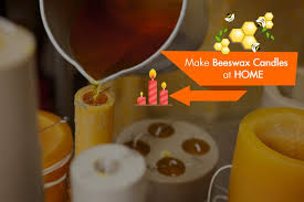 how to make beeswax candles at home