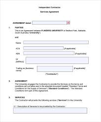 Simple Contractor Agreement Template Sample Contract Agreement 12 Documents In Pdf Word
