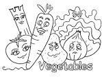 Овощи фрукты раскраска онлайн