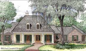 Front elevation of Acadian   French Country home    Front elevation of Acadian   French Country home  ThePlanCollection  House Plan         Maybe Someday   Pinterest   House plans  French Country Homes