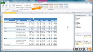 from the video how to create a new pivot table style