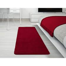 ottomanson luxury gy collection solid design red 2 ft x 5 ft runner