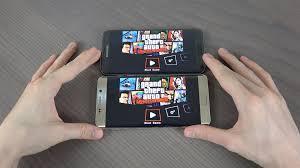 samsung galaxy s7 edge plus. samsung galaxy s7 edge vs. s6 plus - gta liberty city gaming performance! youtube s