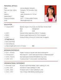 Example Of Resume In English Sonicajuegos Com