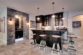 basement bar pendant lighting basement bar ideas stone home bar