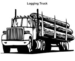 logging coloring pages logging truck in semi truck coloring page download print online