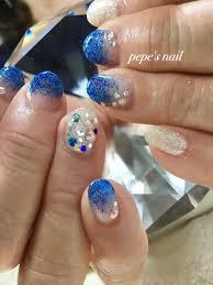 Pepes Nailさんのネイルデザイン 涼しげな夏デザインサンプルか