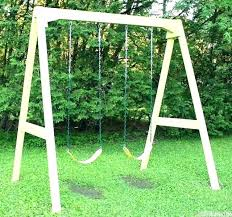 swing set kit simple wooden kits home depot