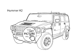 Small Picture Super car Hummer H2 coloring page cool car printable free