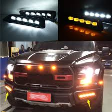 Ford F150 Running Lights Details About Led Drl Daytime Running Light Front Fog Lights For Ford F150 Raptor 2018 2019