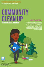 Community Clean Up Flyer Template Clean Up Day Earth Day Flyer Template Postermywall