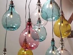 colored glass lighting. Possible DIY Project - Colored Glass Lights. From: Lighting