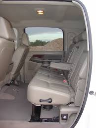 the dodge 6 door mega mega cab is the only build with three rows of reclining seats