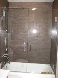 latest glass shower doors over tub with double swing shower door over tub yelp