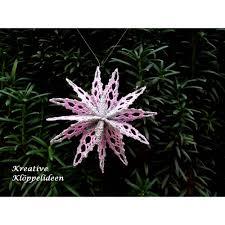Kleiner Klöppelstern 6 Durchmesser 7 Cm In Den Farben Rosa Und Silber Christbaumschmuck Handgeklöppelter Stern Faltstern
