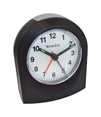 westclox alarm clock travel black quartz movement 1 aa battery 1 of 1free
