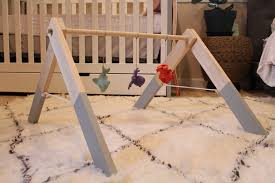 picture of wooden baby gym