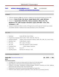 Windows 7 Resume Template Impressive Pl Sql Developer Resume 48 Years Experience 48 Ifest Info Resume