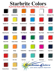 Eternal Ink Colour Chart Starbrite Colors Tattoo Inks 1 Oz 2 Oz Or 4 Oz Goldentimes Corp