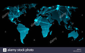 Map Of The World Background Abstract Background With Futuristic World Map Technology Concept