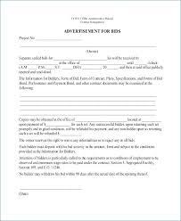 Construction Bid Proposal Template Word - Marylandbfa.org