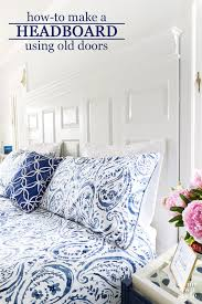 how to make a bed headboard using old doors i used bifold doors but