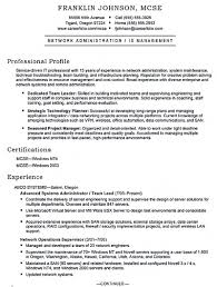 mcse resume samples system administrator resume includes a snapshot of the skills both
