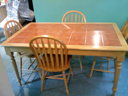Lovely Dining Table Concept With Tile Top Kitchen Table And Chairs For Sale