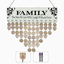 Elekfx Family Birthday Calendar For Family Or Friends Name And