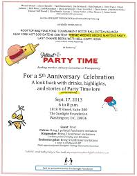 Political Fundraising Invitations Party Time Sunlight Foundation