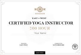 yoga teacher training east west