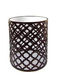 19 accent table with glass top in bronze finish quatrefoil trellis cutout design side