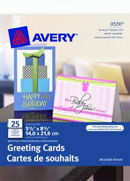 Avery Greeting Cards Avery Half Fold Greeting Cards For Inkjet Printers 03297 5