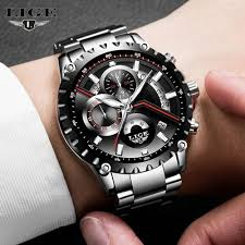 Shop <b>Lige LIGE New</b> Fashion <b>Mens Watches Men</b> Full Steel ...