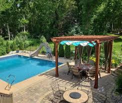 backyard pool pergola ideas beautiful